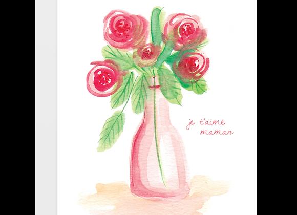 Flowers In Vase Card