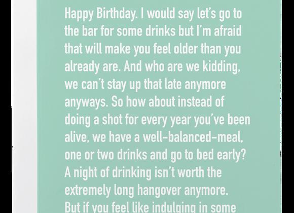 Birthday Drinks Chatty Card