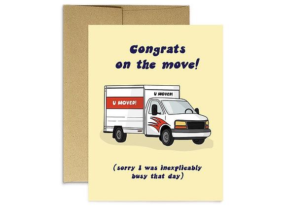 U Moved Card