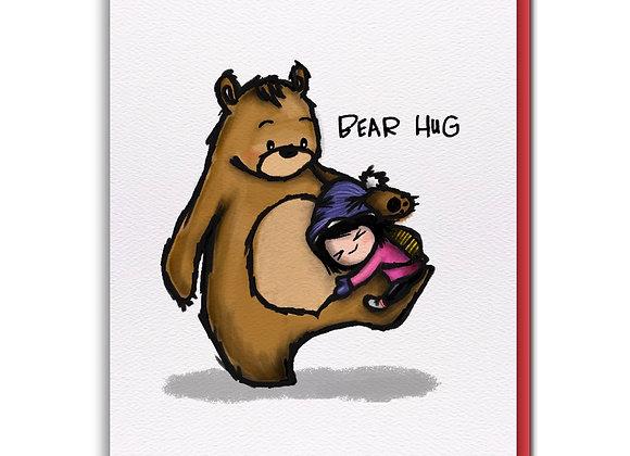 Bear Hug Blank Card