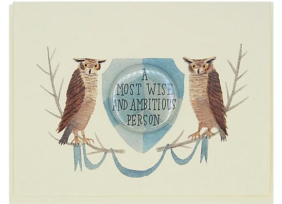 Crest Graduation Owl Card