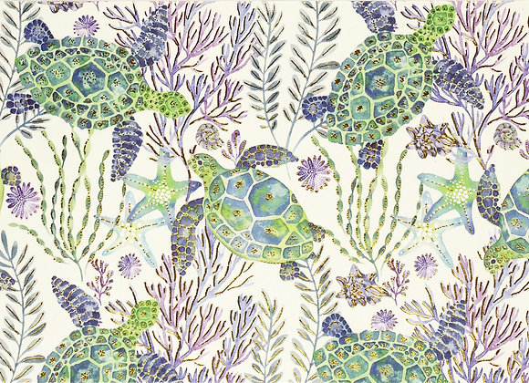Sea Turtles Blank Boxed Cards
