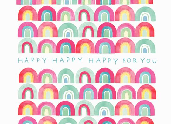 Happy Happy Happy For You Birthday Card