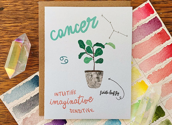 Cancer Houseplants Card