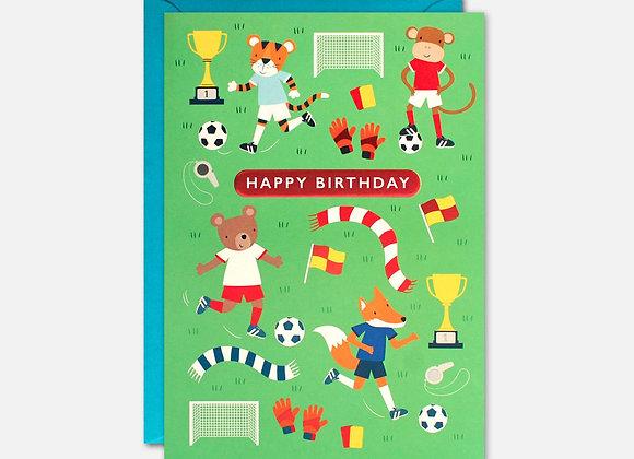 Animal Sports Kids Birthday Card