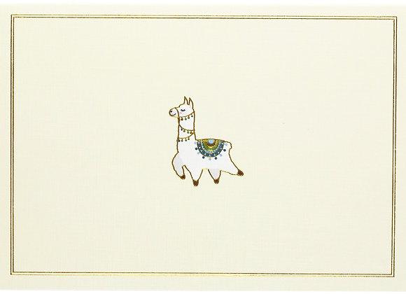 Llama Blank Boxed Cards