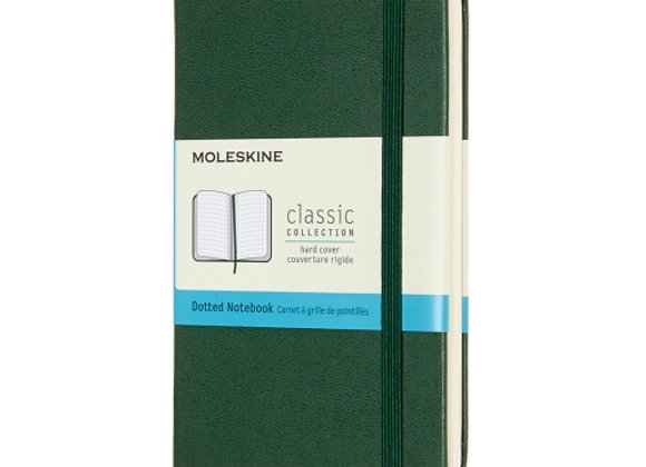 Classic Pocket Myrtle Green Hard Cover Dotted Notebook