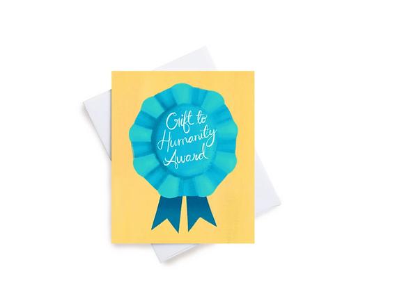 Humanity Award Birthday Card