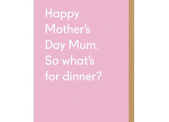 Happy Mother's Day Dinner Card