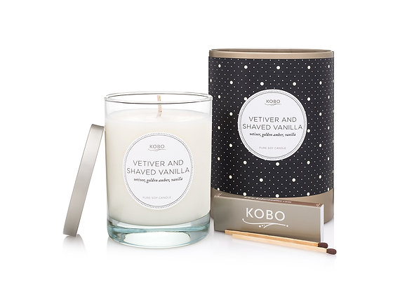 Vetiver And Shaved Vanilla  Kobo Coterie Series Candle