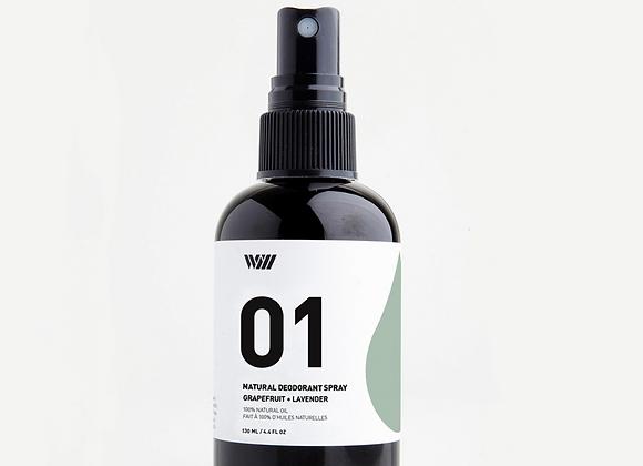 01 Grapefruit & Lavender Spray Deodorant