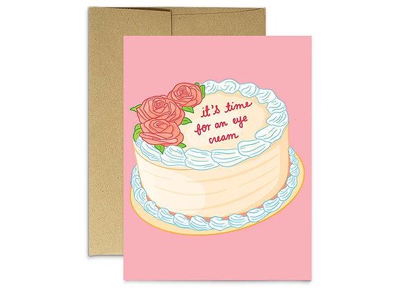Eye Cream Birthday Card