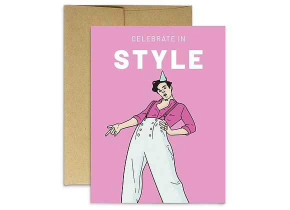 Celebrate In Style Birthday Card