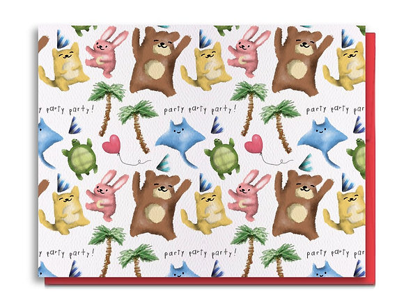 Party Party Party Birthday Card