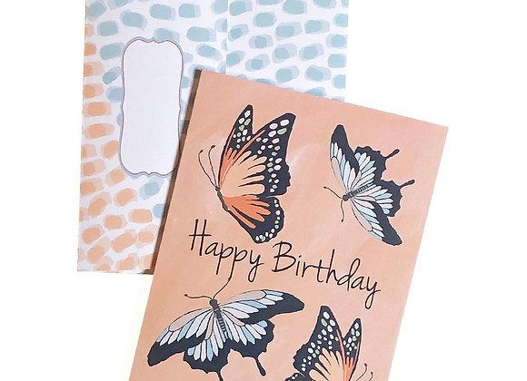Happy Birthday Butterflies Card