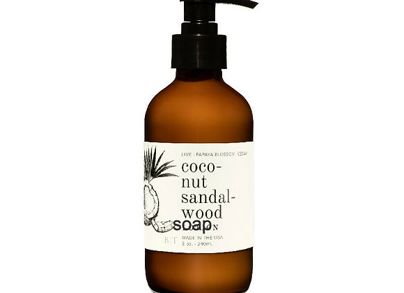 Coconut Sandalwood 8oz. Liquid Soap
