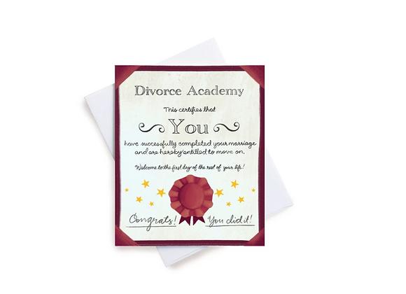 Divorce Certificate Card