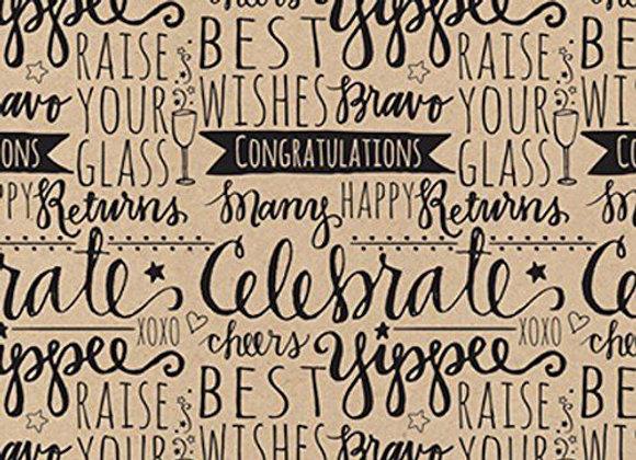 Celebration Scribbles Gift Wrap