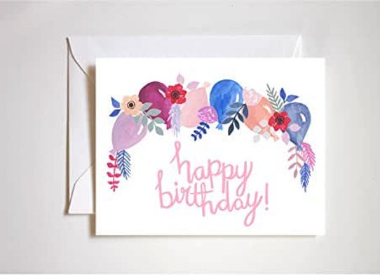 Birthday Balloon Garland Card