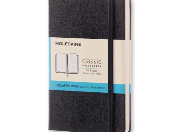 Classic Pocket Black Hard Cover Dot Notebook