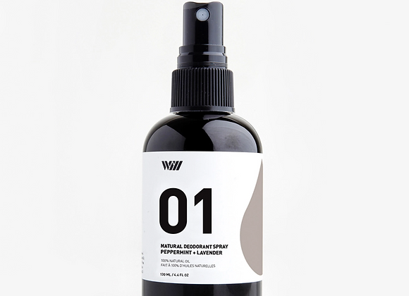 01 Peppermint & Lavender Spray Deodorant