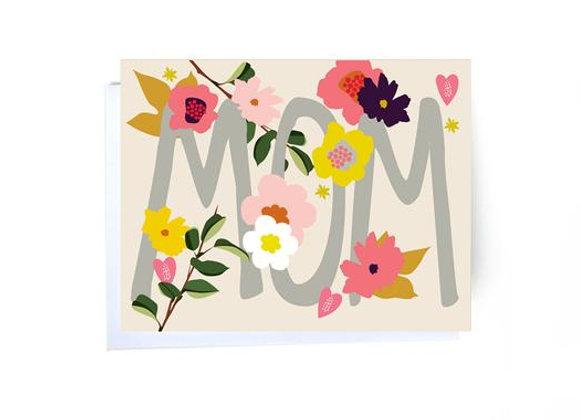 Mom Flowers Card