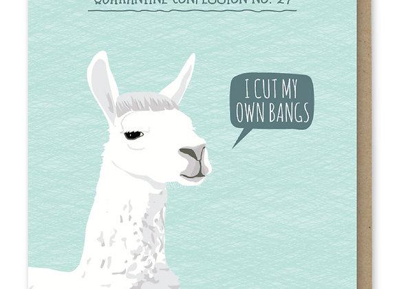 Confess Llama Card