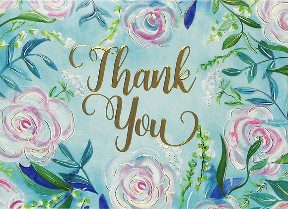 Blue Dreams Thank You Boxed Cards
