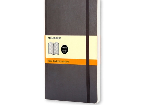Classic Large Black Cover Ruled Notebook