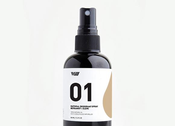01 Bergamot & Elemi Spray Deodorant