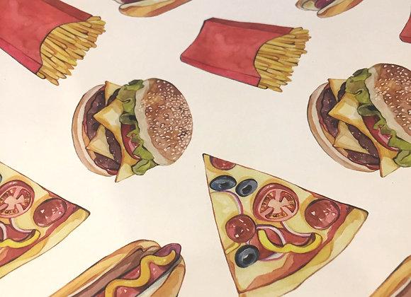 Fast Food Flat Wrap Sheet