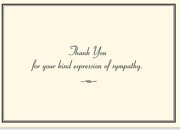 Sympathy Thank You Boxed Cards