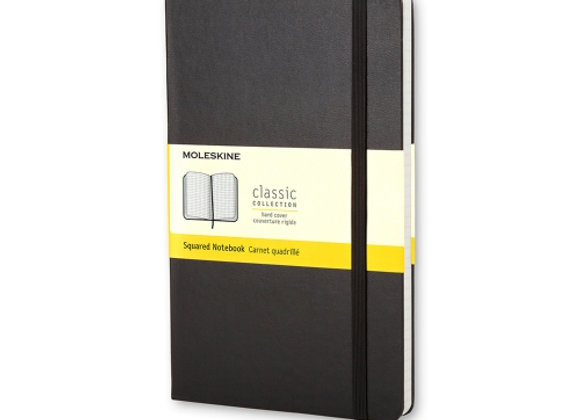 Classic Pocket Black Cover Square Notebook