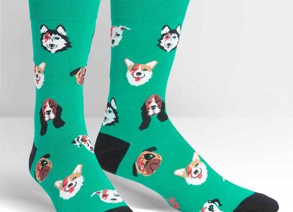 Men's Crew Dogs Of Rock Socks
