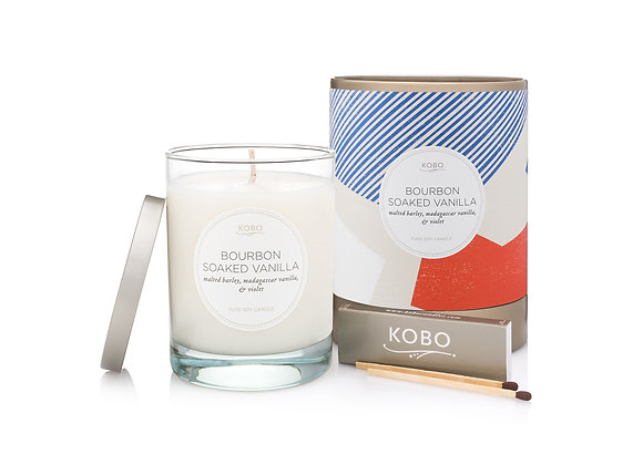 Bourbon Soaked Vanilla Kobo Natural Math Candle