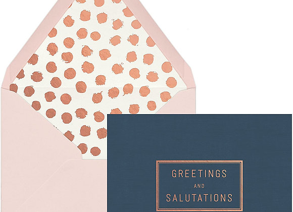 Greetings And Salutations Blank Boxed Cards
