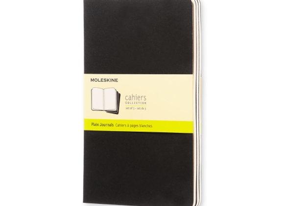 Cahier Large Black Set Of  3 Plain Journals