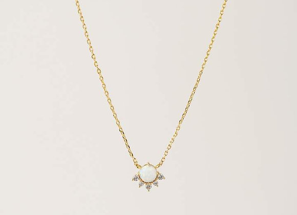 Juno Necklace Gold Opal
