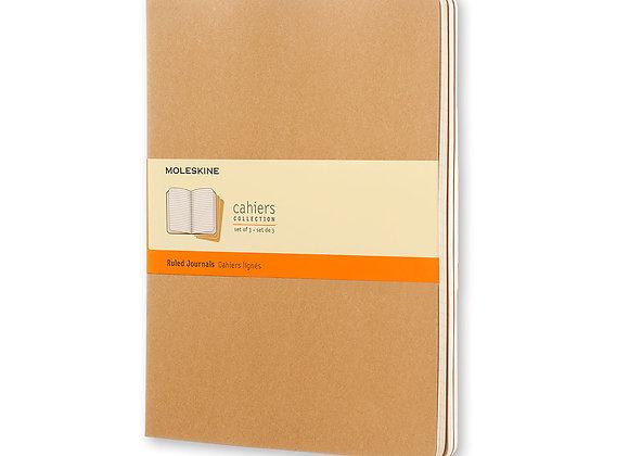 Cahier XL Kraft Brown Set Of 3 Ruled Journal
