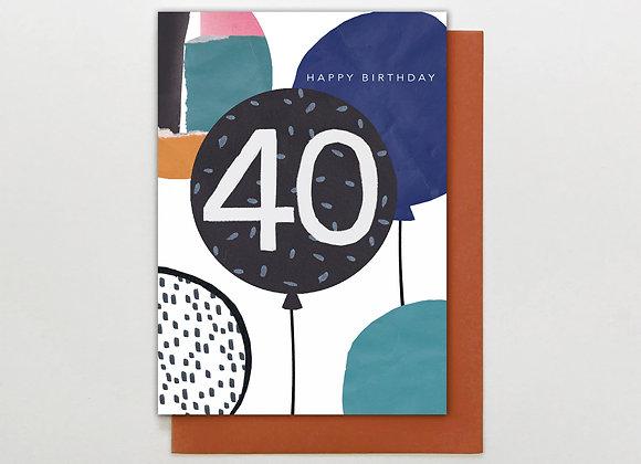 Stop The Clock Design 40 Birthday Card