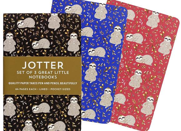 Jotter Notebook Sets Sloths Set Of 3