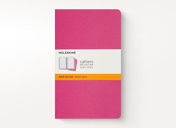 Cahier Pocket Kinetic Pink Set Of 3 Ruled Journals