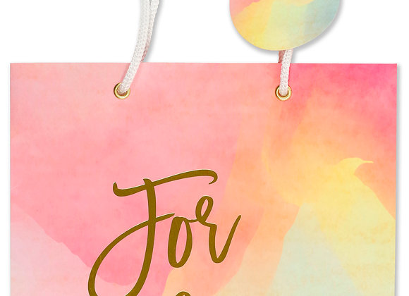 Deluxe Gift Bag Water Colour Sunset