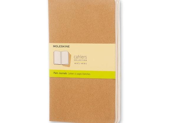 Cahier Large Kraft Brown Set Of 3 Plain Journal