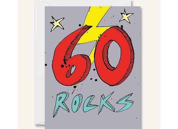 60 Rocks Birthday Card