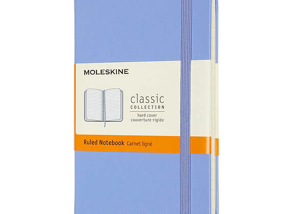 Classic Pocket Light Blue Hard Cover Ruled Notebook