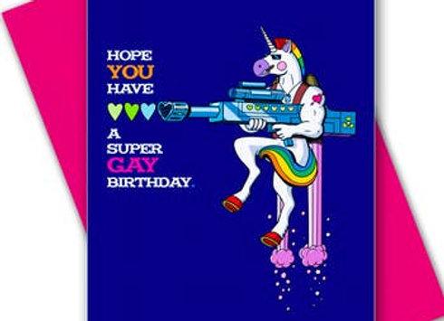 Halfpenny Unicorn Gay Birthday Card