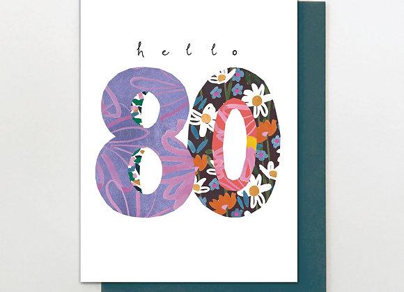 80 Hello Flowers Birthday Card