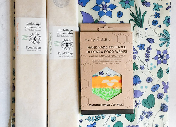 """10x10"""" Beeswax Wraps 3-Pack"""