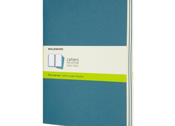 Cahier XL Brisk Blue Set Of 3 Plain Journal